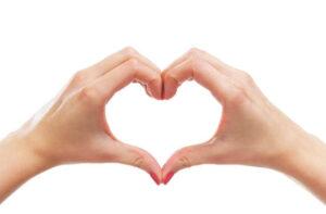 käsi sydän